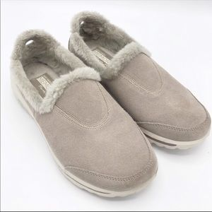 Skechers Resalyte Gray Suede GoWalk Shoes Size 7.5